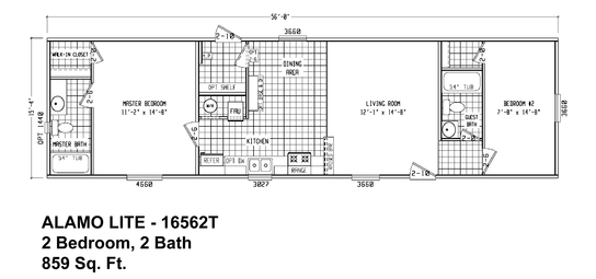 Floor Plan ALB Alamo Lite SingleSection Cavco Homes Of - Floor plans for homes in texas 2